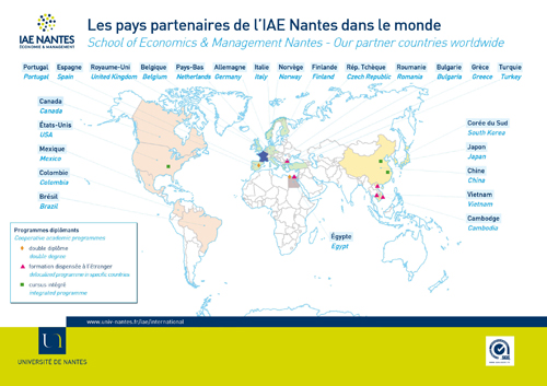 IAE Nantes Partenariats internationaux International partners
