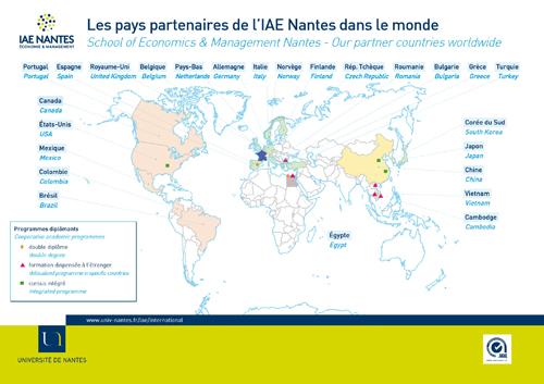 IAE Nantes Partenariats internationaux International partners