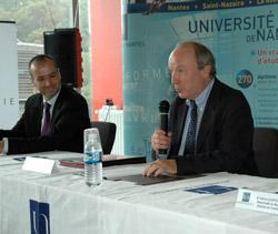 Patrick Guérin, pdg de Celtipharm et Yves Lecointe, président de l'Université de Nantes
